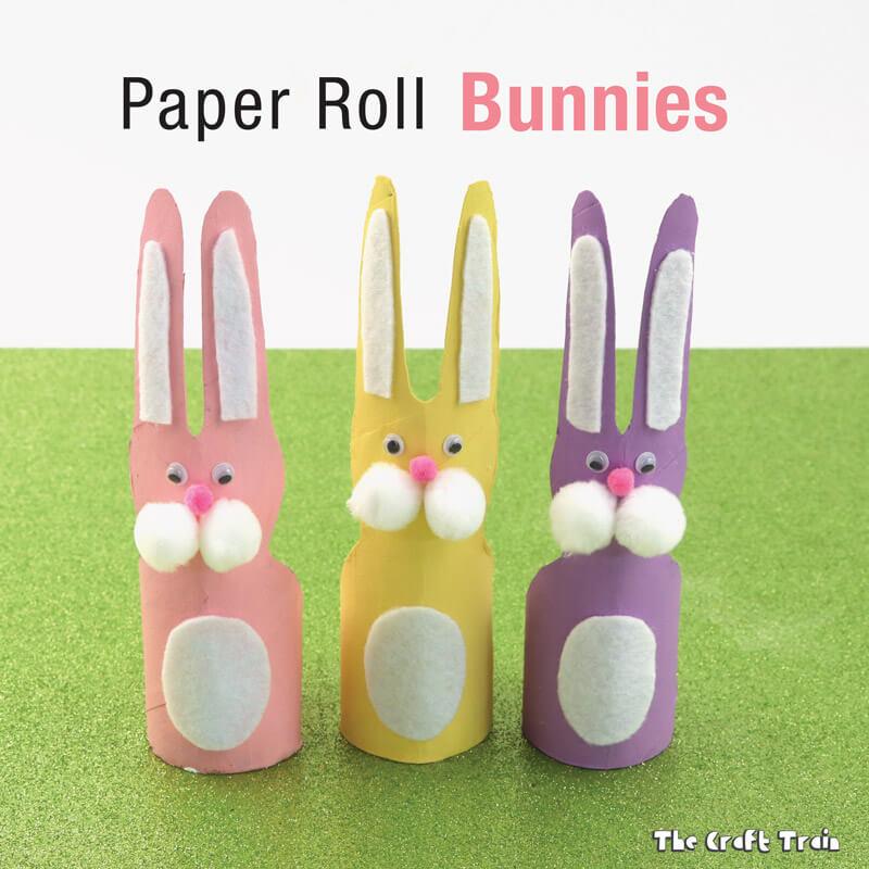 lavoretti di Pasqua con cose che si hanno in casa: coniglietti