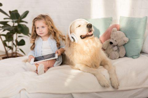 Cane e bambini