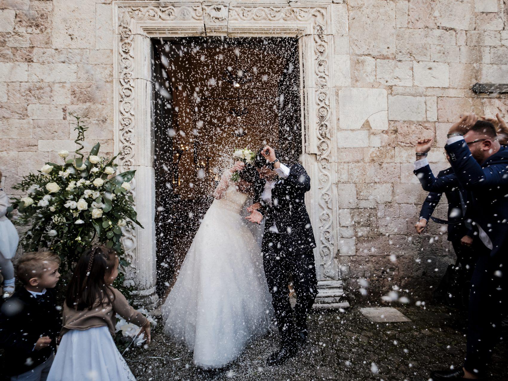 matrimonio con abito da sposa di annagemma lascari