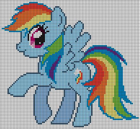 rainbowdash pixel art schemi