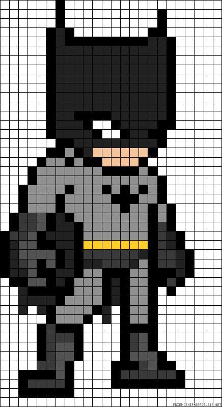 schemi pixel art supereroi _ batman