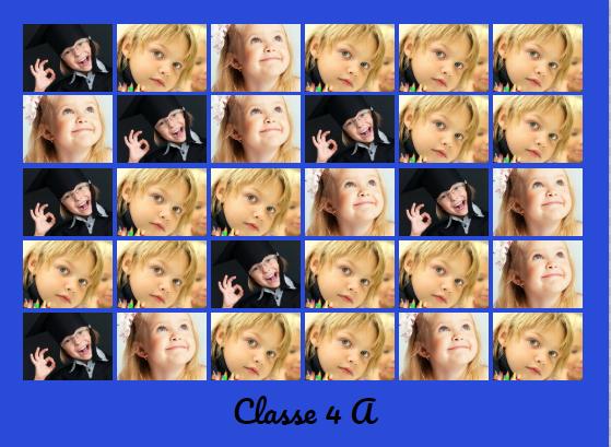 foto di classe a distanza con collage di foto