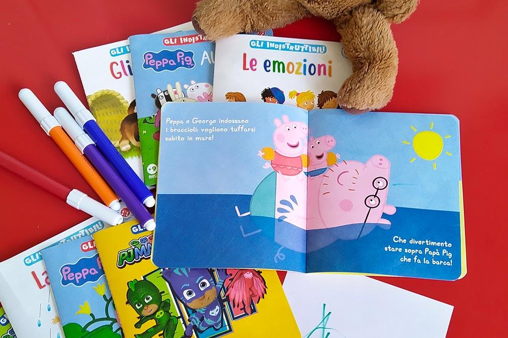 Gli indistruttibili i libri per bambini lavabili e sanificabili.