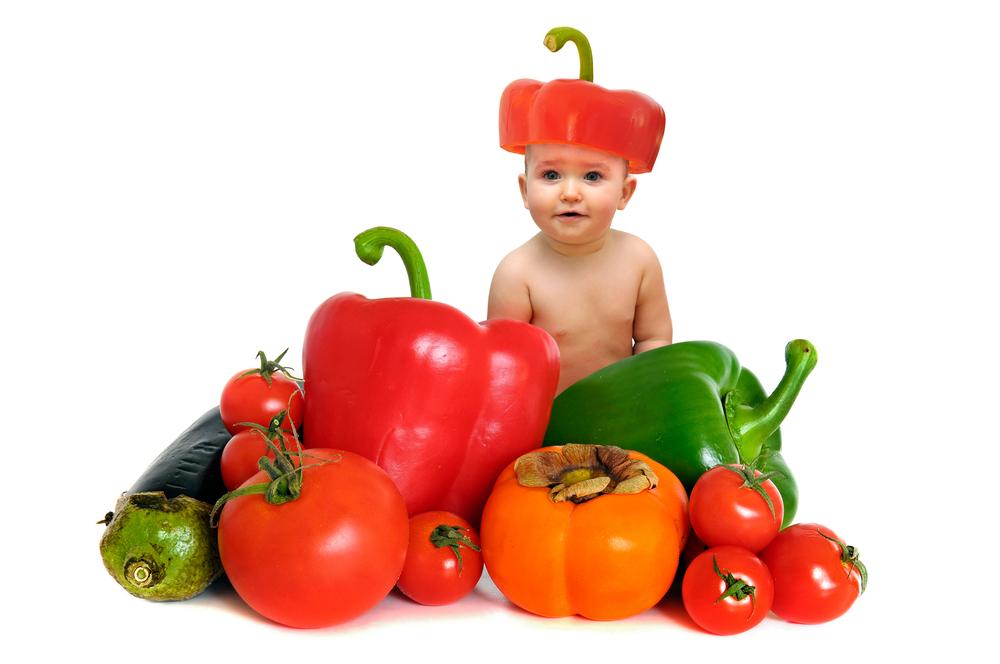 neonato e peperoni