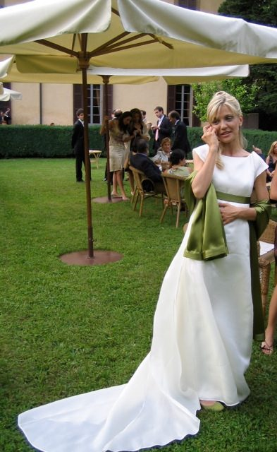 abito da sposa in stile impero