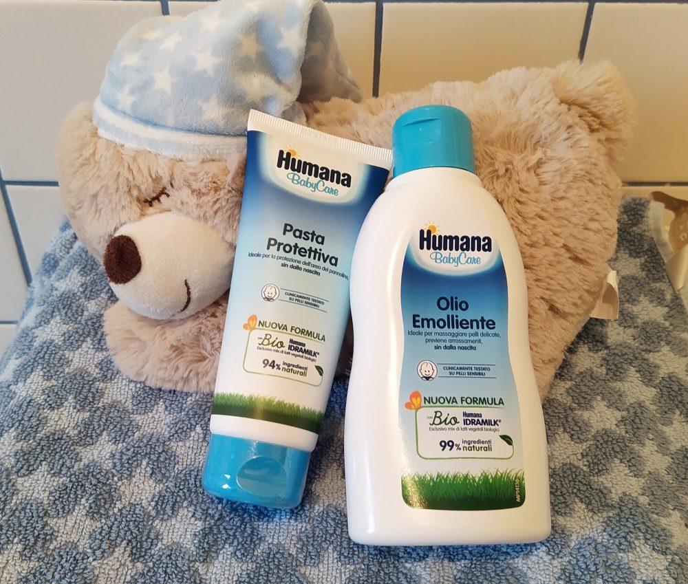 pasta protettiva e olio emolliente Humana BabyCare