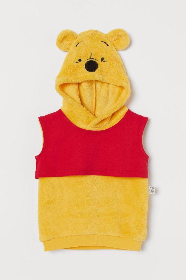 come vestire un neonato a carnevale costume Winnie the pooh