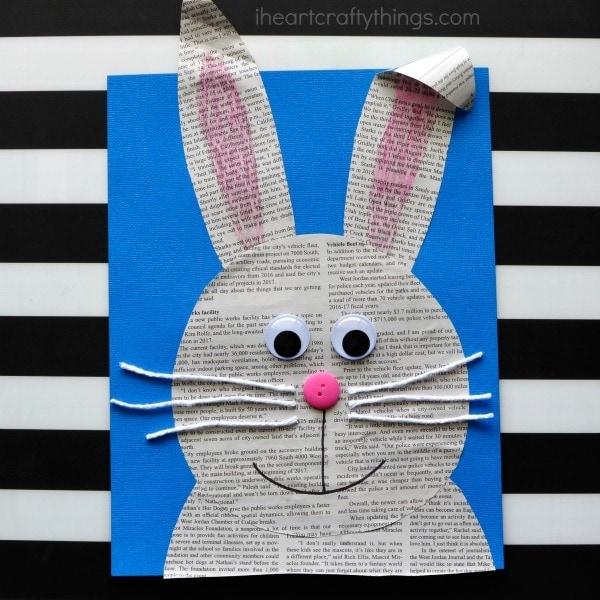 biglietti di Pasqua fai da te con coniglietto