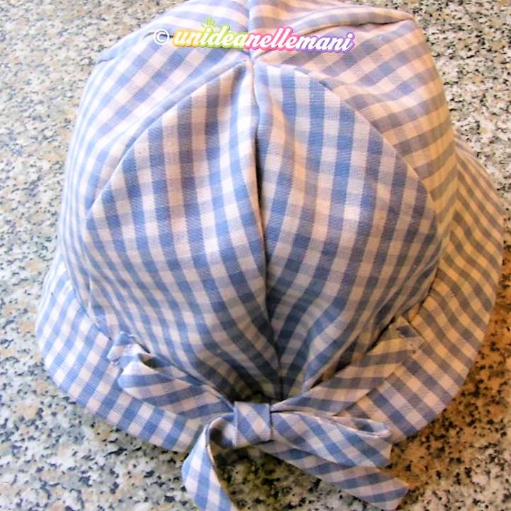 cappellino estivo per neonato fai da te in stoffa
