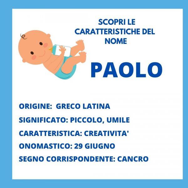 nomi per bambino paolo