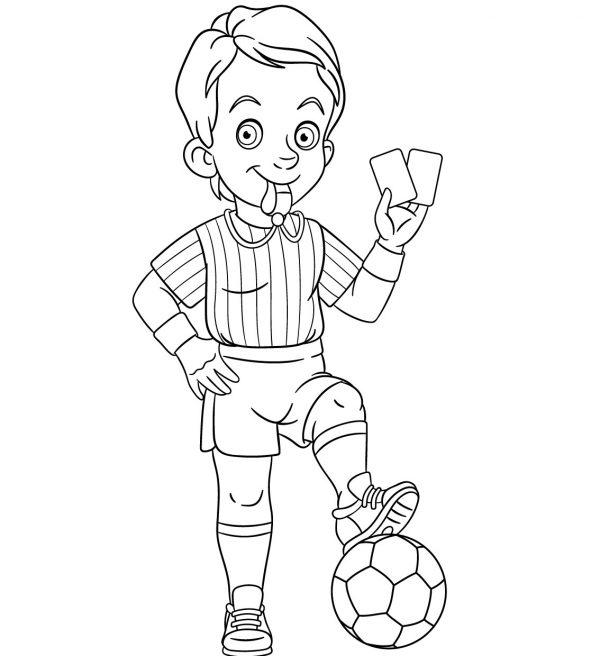 disegni da colorare calcio bambini