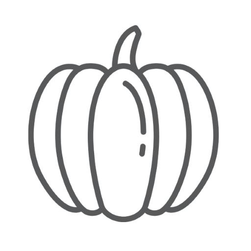 zucca autunno da colorare